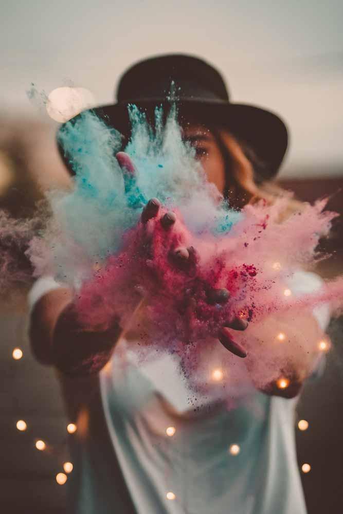 polvos colores holi sesión