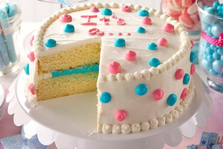 tarta fiesta gender reveal