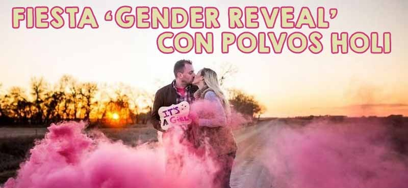 Monta una fiesta 'Gender Reveal' con polvos holi